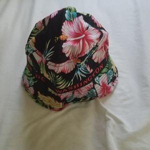 DC. WASHINGTON floral HAT